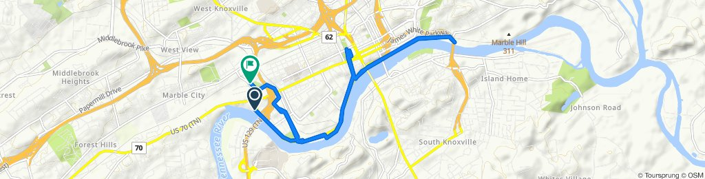 Moderate route in Knoxville