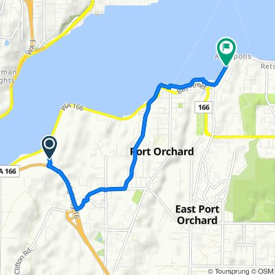 Washington 166 1090, Port Orchard to Perry Avenue North 455, Port Orchard