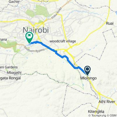 Old Mlolongo Road, Athi River to Kibera Access Road, Nairobi