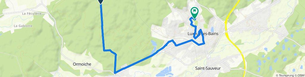 Itinéraire sportif en Luxeuil-les-Bains