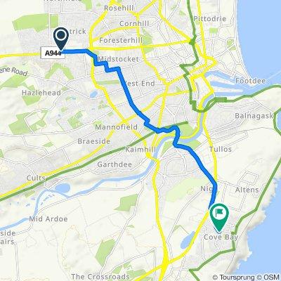 Restful route in Aberdeen