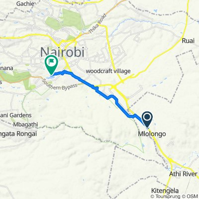 Mombasa Road, Athi River to Kibera Access Road, Nairobi