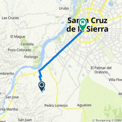 De Unnamed Road a Avenida Grigotá, Santa Cruz de la Sierra