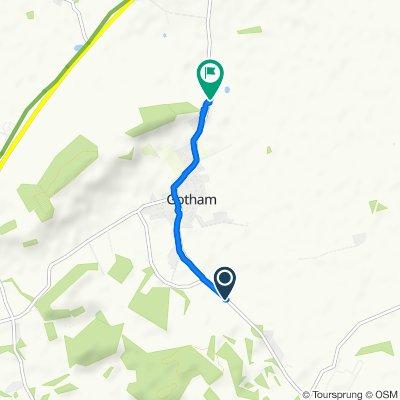 Route to Nottingham Road, Nottingham