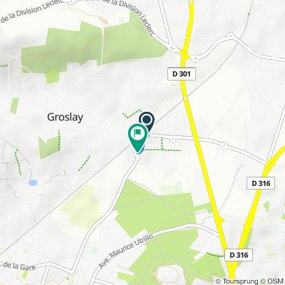 Itinéraire confortable en Groslay