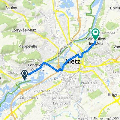 Itinéraire facile en Saint-Julien-lès-Metz