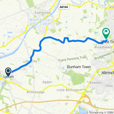Village Hall, Pepper Street, Lymm to 48 Riverbrook Road, Altrincham
