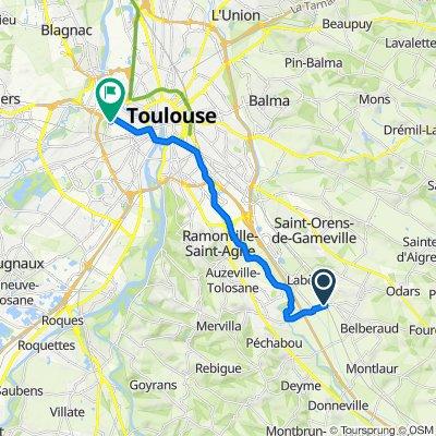 Itinéraire reposant en Toulouse