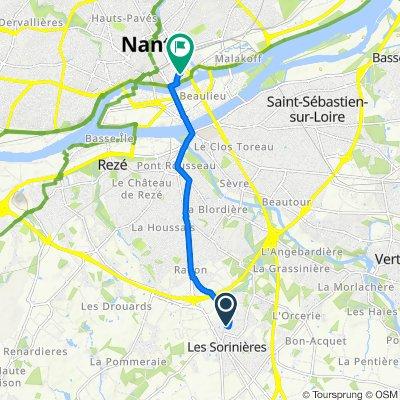 De Rue des Sternes 21, Les Sorinières à Rue de Saverne 4, Nantes
