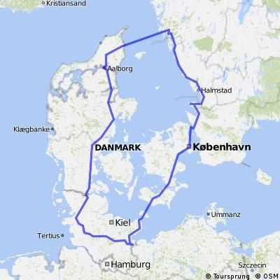 Road-Bike-Tour arround the Kattegat [Neu]