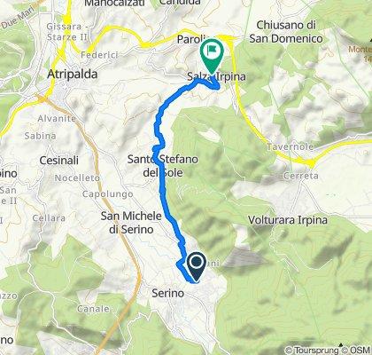 Da Via Cupa Scura 54, Sala a Via San Francesco 29, Salza Irpina