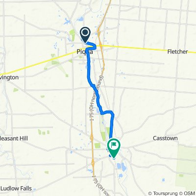 North Wayne Street 728, Piqua to Union Street 633, Troy
