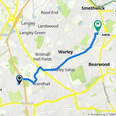 14 High Farm Road, Birmingham to 134 Arden Road, Birmingham