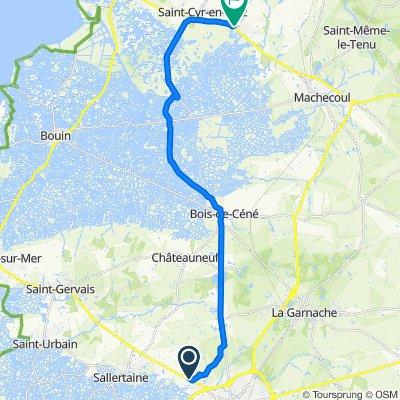 De D948 96, Sallertaine à Rue de Retz 3, Villeneuve-en-Retz