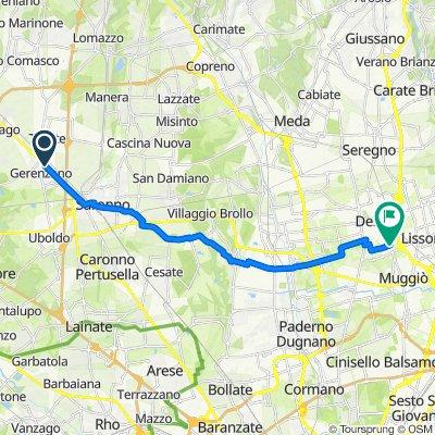 Da Via Giampiero Clerici 52, Gerenzano a Via Caravaggio 1, Desio