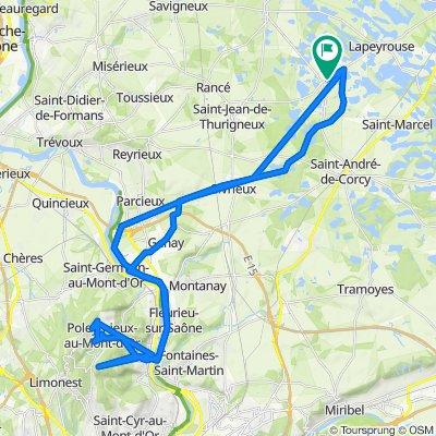 Itinéraire vers Montaplan 11, Monthieux