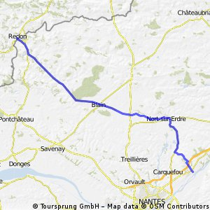 Day 4 Redon to Mauves sur Loire