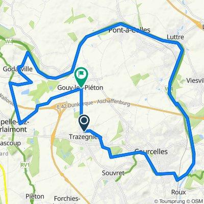 Trazegnies - Chapelle - godarville - Gouy - Luttre - Roux - Courcelles