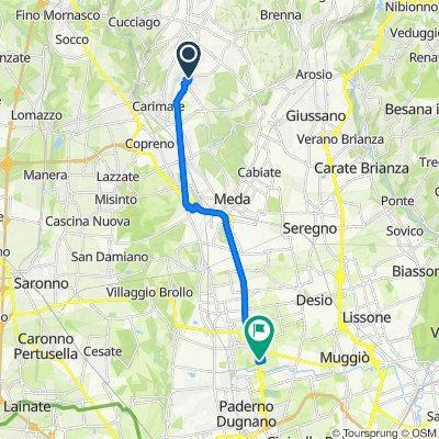 Da Via Como 8, Figino Serenza a Via Brescia 1, Varedo