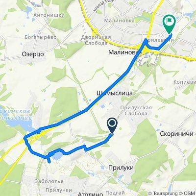 От Unnamed Road до улица Наполеона Орды 45, Минск