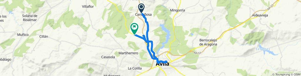 De Calle del Santo 17, Cardeñosa a Carretera Salamanca 42, Ávila