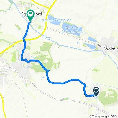 Gemütliche Route in Egeln