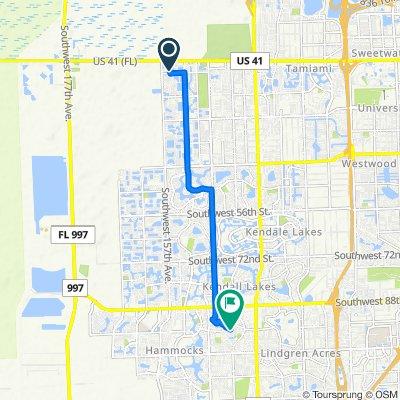 962 SW 154th Ct, Miami to West Way, Miami