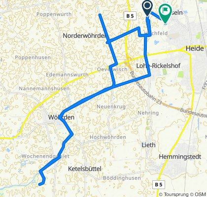 Wöhrdener Hafen 2x15km