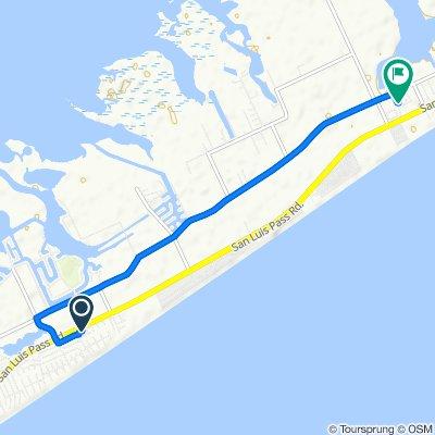 504 Jean Lafitte Cove, Galveston to 11214 Amalfi Ln, Galveston