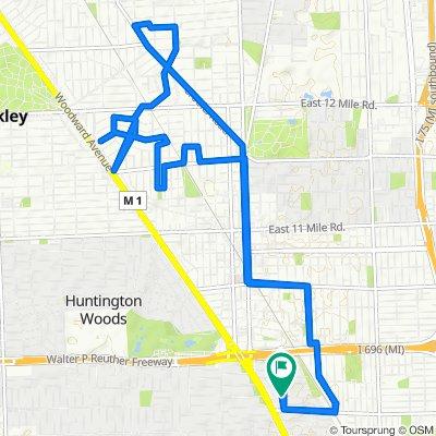 24 Maywood Ave, Pleasant Ridge to 17 Sylvan Ave, Pleasant Ridge