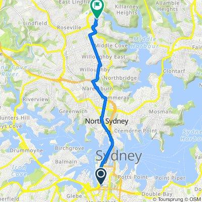 433 Kent Street, Sydney to 34 Calga Street, Roseville Chase