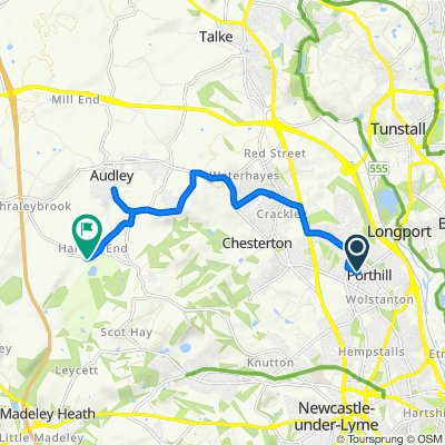 Steady ride in Newcastle-under-Lyme