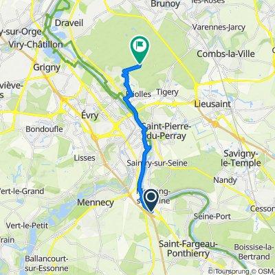 Itinéraire modéré en Le Coudray-Montceaux