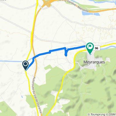 Itinéraire confortable en Meyrargues