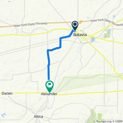 10 Kingsbury Ave, Batavia to 10543 Alexander Rd, Alexander