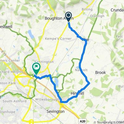 Boughton Corner to Canterbury Road 131, Kennington