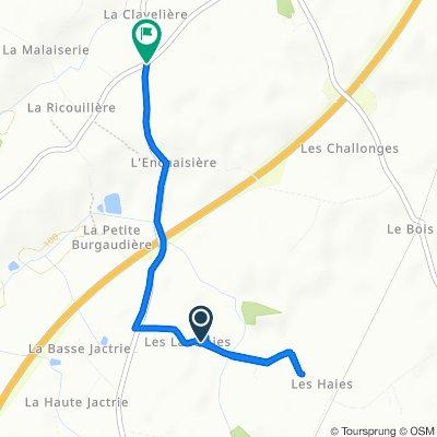 De Les Lantraies, Chemillé-en-Anjou à Unnamed Road, Chemillé-en-Anjou