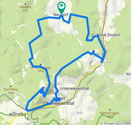 Karzl-Tour von Neudorf nach Oberwiesenthal und zurück