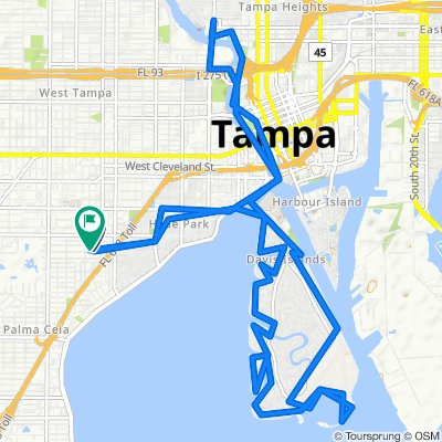 2419 W Sunset Dr, Tampa to 2425 W Sunset Dr, Tampa