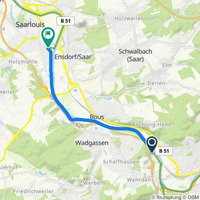 Entspannende Route in Saarlouis