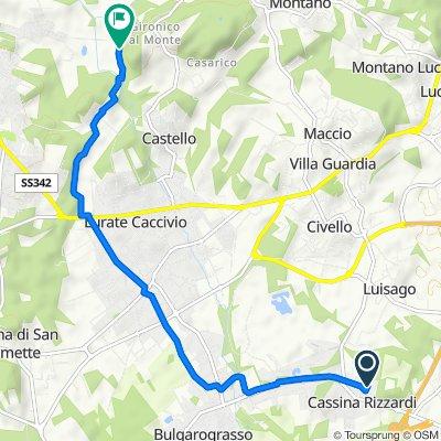 Giro semplice in Cassina Rizzardi
