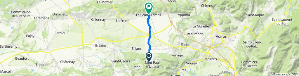 De 1188–1458 Le Marron, Saint-Paul-d'Izeaux à Le Tabouret, Le Grand-Lemps