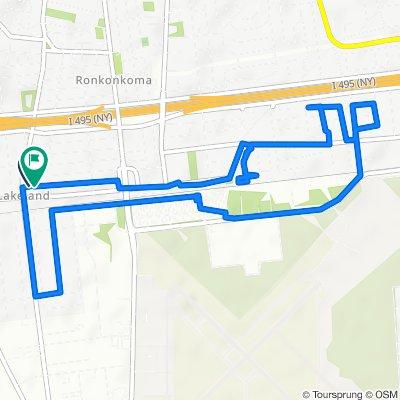 Restful route in Ronkonkoma