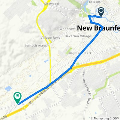 Relaxed route in New Braunfels
