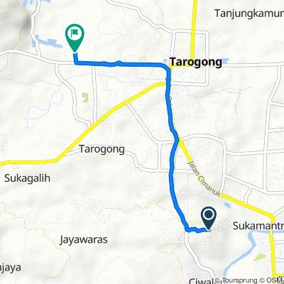 Jalan Gordah 35, Kecamatan Tarogong Kidul to Rancabango, Kecamatan Tarogong Kaler