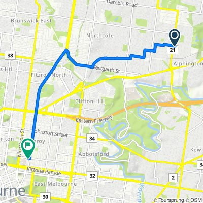 Sporty route in Fitzroy