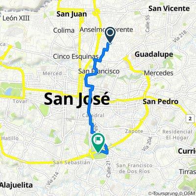 De Avenida 39, San José a Paseo de la Segunda República, San José