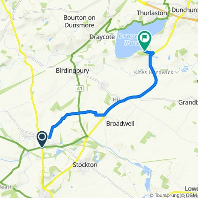 Route from Southam Road, Southam