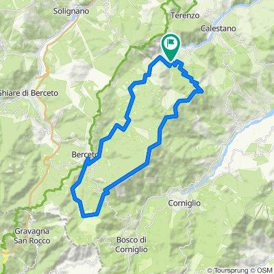 Montagnana, Cavalcalupo, Cervellino on GPSies.com