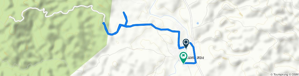 Moderate route in Tha Wang Pha